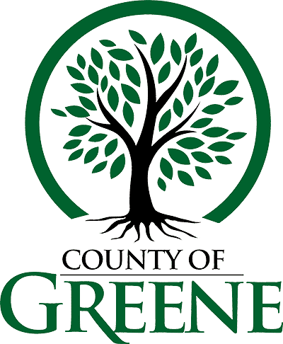 logo - county of greene with green tree graphic